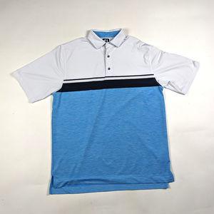 Footjoy FJ Golf Polo Mens Size L Color Block Shirt
